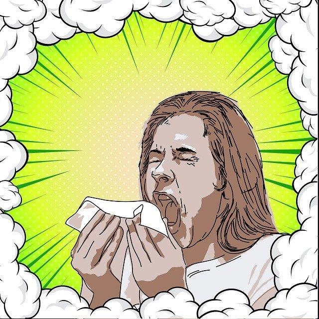 kýchnutí ženy