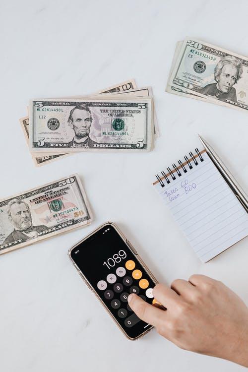 kalkulačka, peníz